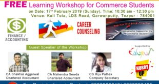 Free Learning Workshop For Commerce Students